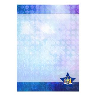 Cool New York Flag Star 13 Cm X 18 Cm Invitation Card