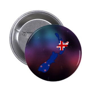 Cool new zealand Flag Map 6 Cm Round Badge