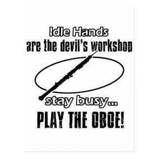 Cool Oboe designs Postcard