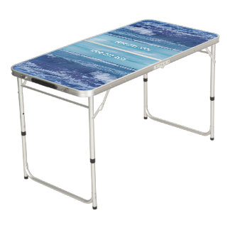 Cool Ocean Photograph Waves Blue Sky Pong Table