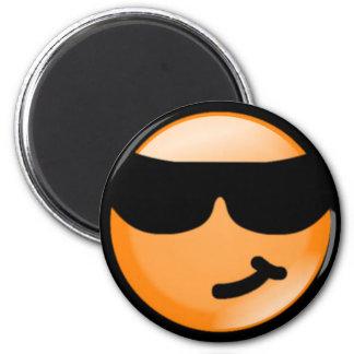 Cool-Orange 6 Cm Round Magnet
