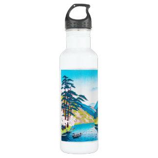 Cool oriental japanese gorgeous mountain river 710 ml water bottle