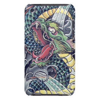 Cool oriental japanese green dragon god tattoo art iPod touch cases