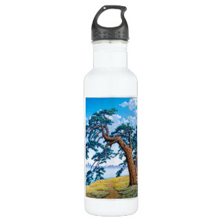 Cool oriental japanese Hasui Kawase tree art 710 Ml Water Bottle