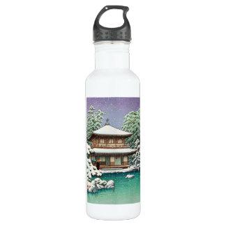 Cool oriental japanese Hasui Kawase winter scene 710 Ml Water Bottle