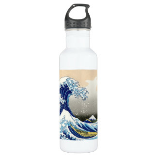 Cool oriental japanese Hokusai Fuji View landscape 710 Ml Water Bottle