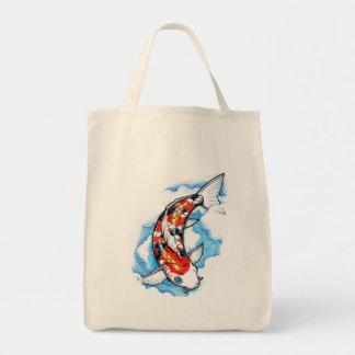 Cool Oriental Japanese Koi Carp Cloud tattoo Tote Bag