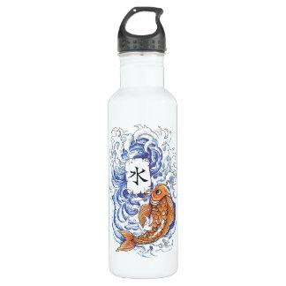 Cool Oriental Japanese Koi Carp Fish Wave tattoo 710 Ml Water Bottle