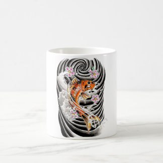 Cool Oriental Japanese Orange Carp Koi Fish Coffee Mug
