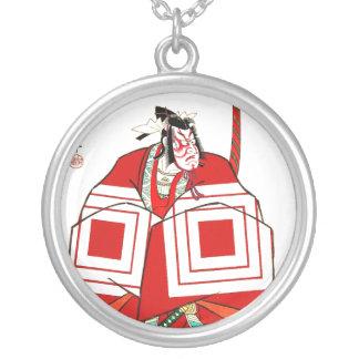 Cool Oriental Shibaraku SAmurai tattoo Silver Plated Necklace