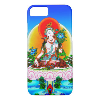 Cool oriental tibetan thangka White Tara tattoo iPhone 8/7 Case