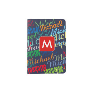 cool passport for a boy with colourful names passport holder