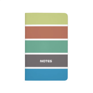 Cool Pastel Colorful Stripes Journal