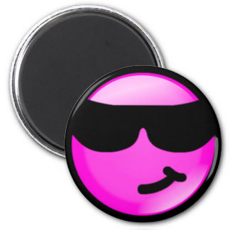 Cool-Pink 6 Cm Round Magnet
