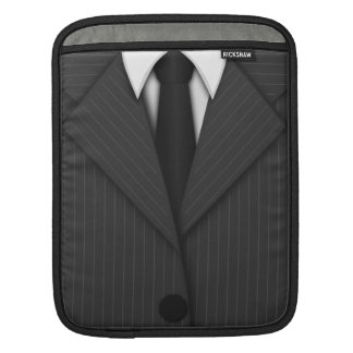 Cool Pinstripe Suit and Tie Vertical iPad Sleeves Sleeve For iPads