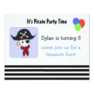 Cool Pirate Birthday Party Invitation