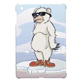 Cool polar Bear with Sunglasses Cover For The iPad Mini