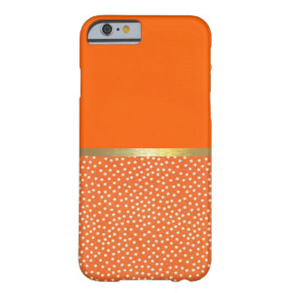 Cool Polka Dots Orange Pattern iPhone 6 Case Barely There iPhone 6 Case