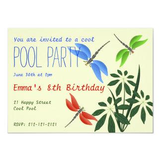 Cool Pool Party Fun Happy Birthday 11 Cm X 16 Cm Invitation Card
