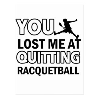 Cool Racquet ball designs Postcard