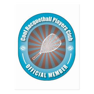 Cool Racquetball Players Club Postcard