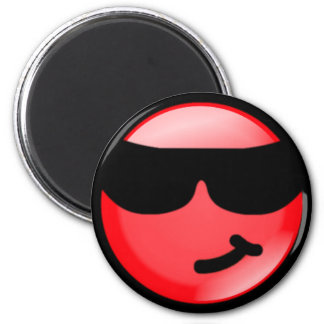 Cool-Red 6 Cm Round Magnet