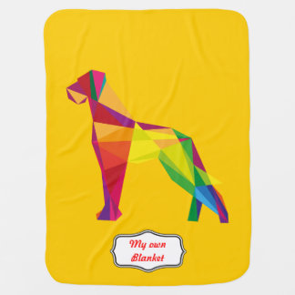 Cool red and yellow abstract Great Dane illustrati Baby Blanket