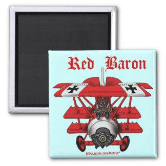 Cool red baron plane magnet design