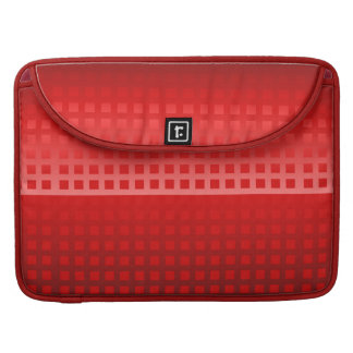 Cool Red Squares Pattern Sleeve For MacBook Pro