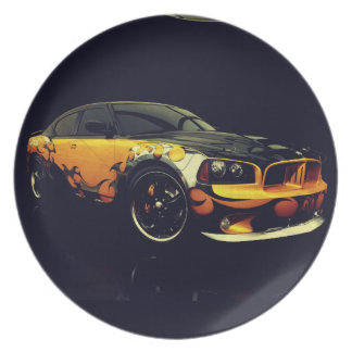 Cool Retro Car Dinner Plates