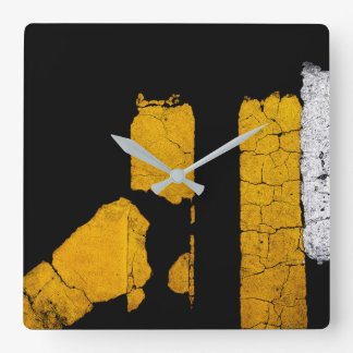 Cool Road Paint Art Square Wall Clock