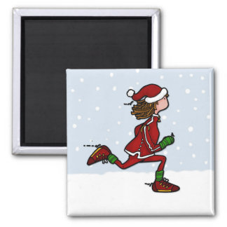 cool runnings (woman) square magnet