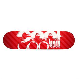 Cool; Scarlet Red Stripes Skateboard Deck