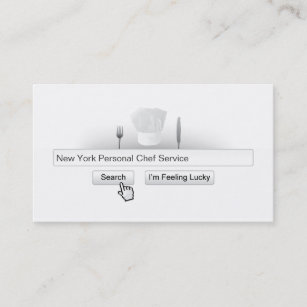 Cool chef business cards zazzle nz cool search bar personal chef business card reheart