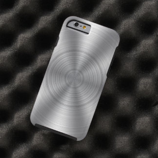Cool Silver Metallic Look Tough iPhone 6 Case