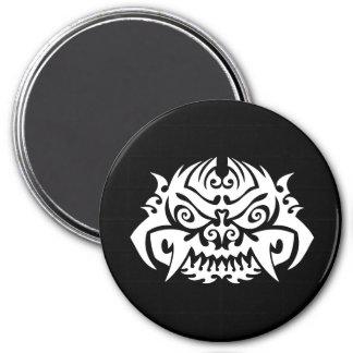 Cool Simple Elegant Classic Black White Tribal 7.5 Cm Round Magnet