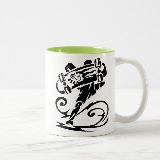 Cool Skater; Skateboarder Coffee Mugs