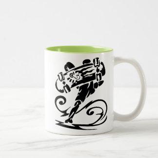 Cool Skater; Skateboarder Two-Tone Mug