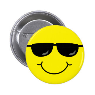 Cool Smiley Face with Sunglasses 6 Cm Round Badge