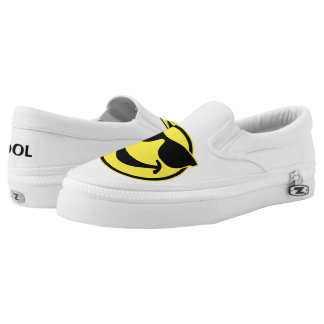 Cool Smiley yellow + your backg. & ideas Printed Shoes