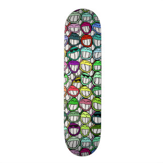 COOL SMILING FACES GROUP SKATE DECK