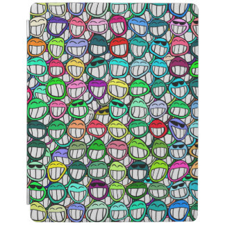 Cool Smiling Faces Pattern II iPad Cover