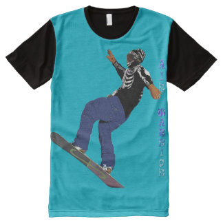 Cool Snow-boarder Rad Art Shirt All-Over Print T-Shirt