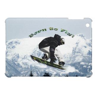 Cool Snow Boarder Winter Sports Theme iPad Mini Case