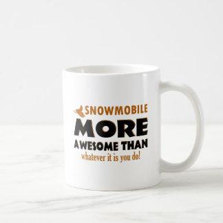 Cool snowmobile designs coffee mug
