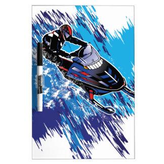 Cool Snowmobiler Dry Erase Board