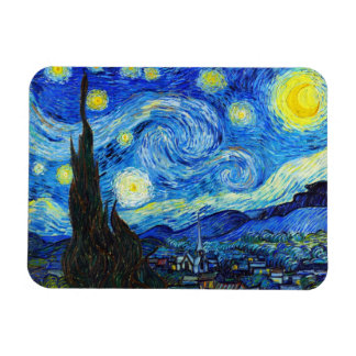 Cool Starry Night Vincent Van Gogh painting Magnet
