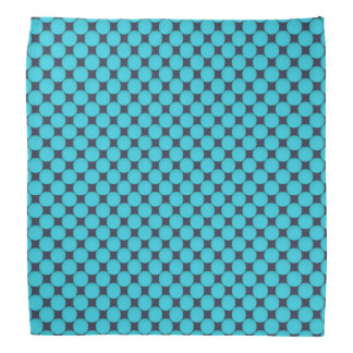 Cool Stylish Teal Blue Polka Dots Head Kerchief