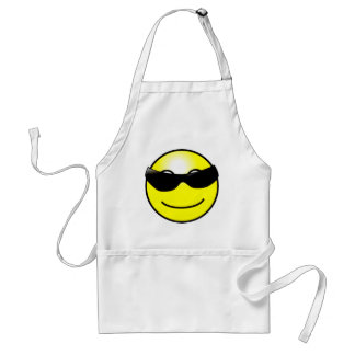 Cool Sunglasses Yellow Smiley Face Apron