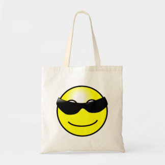 Cool Sunglasses Yellow Smiley Face Canvas Bag